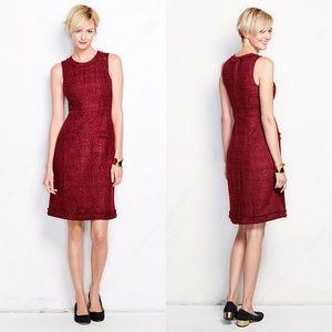 Lands' End Garnet Sheath Dress New sz 12 msrp $119